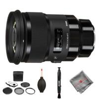 Sigma 50mm f/1.4 DG HSM Art Sony Lens and cleaning accessories