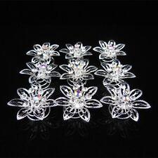 Set 10 Curlies spirales Cheveux Strass Mariage épingles à mariée fleur étoile