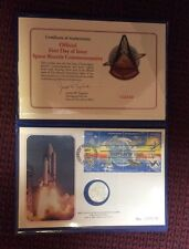 Official First Day of Issue 1981 Space Shuttle Commemorative Sterling Silver