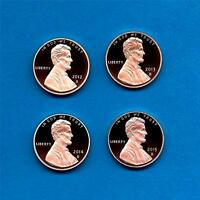 2012 S through 2015 S Proof Lincoln Cents- Gem Proof -FOUR COIN SET