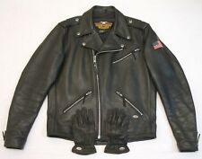 Harley Davidson Leather Jacket Made in USA Large with Gloves Excellent Condition