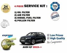 FOR AUDI Q7 3.0 TDI QUATTRO 2015->NEW OIL AIR FUEL POLLEN 4 FILTER SERVICE KIT