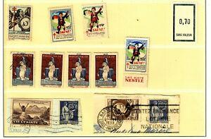 lot de 11 timbres tuberculose médecine préventive de 1930 à 1938