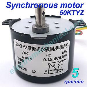 Synchronmotor 50 KTYZ AC 220 V 240 V 50/60 Hz 1 2,5 bis 100 110 RMP/m CW/CCW 6W