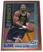 1995/96 Karl Malone NBA Topps Mystery Finest Orange Border Card with Peel #M12