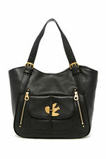NWT MARC JACOBS Petal to the Metal Leather Shoulder Tote BLACK $600+ AUTHENTIC