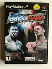 WWE SmackDown! vs. Raw 2006 Ps2 Complete w/ Manual