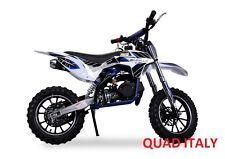 "MINI MOTO CROSS 50 cc  RUOTE 10"" MINICROSS PER BAMBINI GAZELLA MOTORE Blu!!"