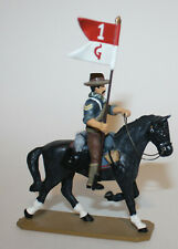 King & Country RR04A Flagbearer Sgt Corp Horse Retired Guidon Rough Riders