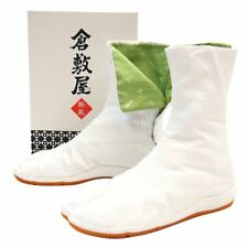 DANCING White NINJA AIR SHOCK JIKATABI LONG BOOTS Tabi Festival Japan New