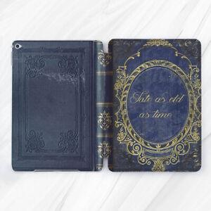 Old Blue Fairy Tale Book Retro Case For iPad Pro 9.7 10.5 11 12.9 Air Mini 2 3 5