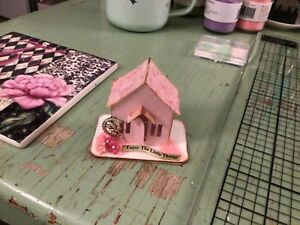 Tim Holtz Paper Village MINIATURE PAPER HOUSE Fairy Pixie PRETTY IN PINK OOAK