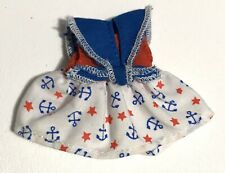 Barbie Doll Clothes Kelly Clubs Lil Friends Blue White Red Sailor Nautical Dress