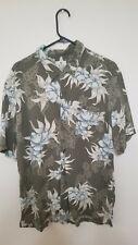Men's Solitude Hawaiian shirt green short sleeve size large