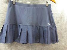 Fila Pleated Tennis Golf Pickleball Skirt Skort Sz Med  Built In Shorts Blue