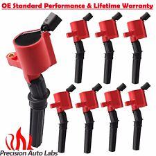 Set of 8 Ignition Coils Pack For Ford Multispark Blaster Epoxy 4.6L/5.4L V8 RED