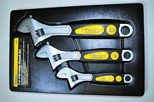 """Adjustable Wrench 6"""",8"""",10"""" 3 pcs set with IN/MM Scale on each Side Titan"""