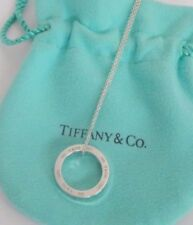 595660172 Tiffany & Co. Sterling Silver 1837 Circle Round Pendant 16