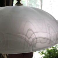 Antique ART DECO GLASS CHANDELIER LIGHT Fully Restored!  12 inch