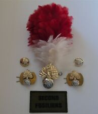 British Army Royal Regiment of Fusiliers Cap/Collar Badges/Buttons TRF & Hackle