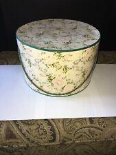 Antique victorian floral hat box 11� Diameter