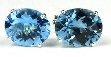 Swiss Blue Topaz, Sterling Silver Earrings, SE102