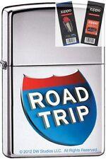 Zippo 9232 road trip movie Lighter with *FLINT & WICK GIFT SET*