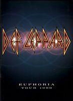 DEF LEPPARD 1999 EUPHORIA TOUR CONCERT PROGRAM BOOK BOOKLET / NEAR MINT 2 MINT