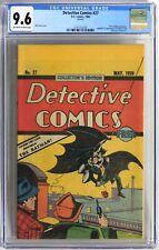 S060. DETECTIVE COMICS #27 by DC Comics CGC 9.6 NM+ (1984) OREO COOKIES GIVEAWAY