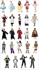 KIDS FANCY DRESS UP COSTUMES CLOWN-PRISONER-INDIAN-ANNA-ALICE-BRIDE-ARMY 3-8 y