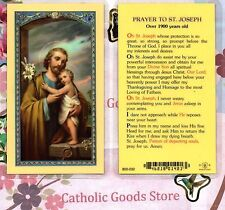 St. Joseph - Prayer to Saint Joseph (Over 1900 Yrs Old) - Laminated  Holy Card