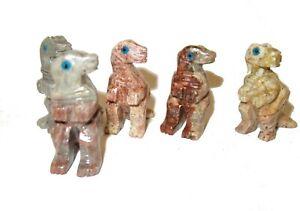 Lovely soapstone dinosaur carved sculpture figurine figure cute - T rex