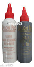 Salon Pro Hair Extension Black 4 oz Glue & Remover Kit