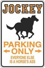 """Metal Sign Jockey Parking Only Horse's Ass 8"""" x 12"""" Aluminum S311"""