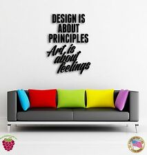 Wall Sticker Quotes Words Inspire  Design Is About Principles Art Is  z1476
