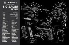 Sig Sauer SP2022 Armorers Gun Cleaning Bench Mat Exploded View Schematic NEW !
