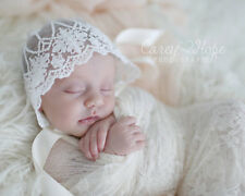 So Soft! Newborn Knit Baby Bonnet Lace Bonnet Hat for Baby photo prop