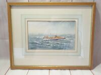 Ian Hudson Original Watercolour, THE SEARCH APPLEDORE LIFEBOAT