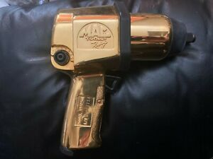"""Dale Earnhardt Mac Tools Limited Edition 24K Gold Plated 1/2"""" Impact AW434 NOS"""