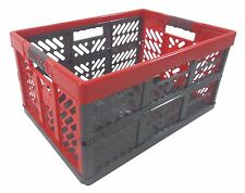 Pro - Foldable box TUV certified 45 L bis 50 kg anthracite / red Folding Crate