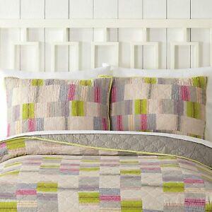 Bright Lights 1977 Dry Goods Standard  Patchwork Pillow Sham 100% Cotton