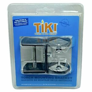 TIKI TORCH Brand Universal Deck Railing Bracket Mount Clamp for Torches & Flags