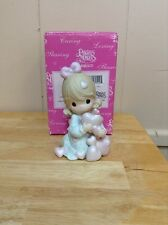 """Precious Moments-#108523 """"Overflowing With Love"""" -Girl Holding Many Hearts- NEW"""