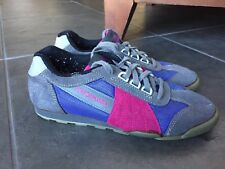 Performance Cycling Shoes US women 7.5 Blue Pink Suede