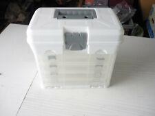VonHaus Utility Storage Craft Box Carry Case with 4 Drawers & Organiser Dividers