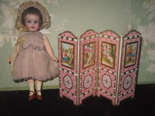 FINAL SALE~EXQUISITE FRENCH ONE-OF-KIND ARTISAN MINIATURE FOLDING DOLL SCREEN!