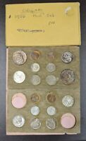 1956 P/D Double US Mint Set Great Color Board Toned in Original Cardboard