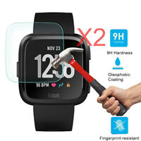 2X Premium Tempered Glass Film Cover Screen Protector For Fitbit Versa Watch √