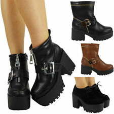 Lace Up Cuban Heel Synthetic Shoes for Women