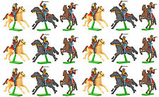 Britains Deetail 7th Cavalry - 18 Mounted  Figures - hand painted mint on card